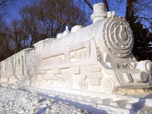 25 spettacolari sculture di neve