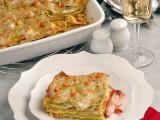 lasagne verdi con gamberi