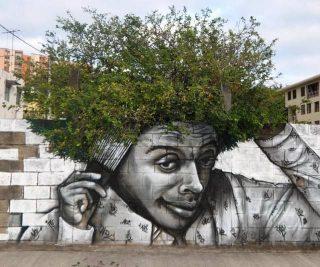 street art che interagiscono con l'ambiente