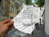 disegni-a-matita-sovrapposti-a-fotografie
